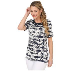 RÖSSLER SELECTION Damen-Shirt 'Monaco' marine/weiß
