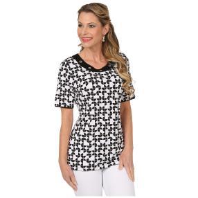 RÖSSLER SELECTION Damen-Shirt 'Milan' schwarz/weiß