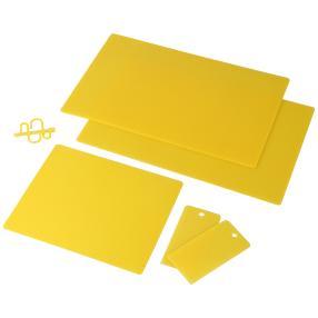 Antibakterielle Kühlschrankmatten gelb, 5-teilig