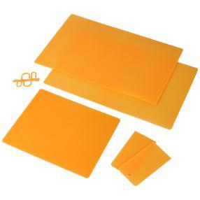Antibakterielle Kühlschrankmatten orange, 5-teilig