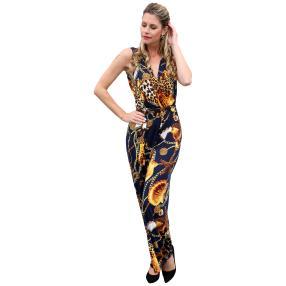 Damen-Jumpsuit 'Elena' marine/multicolor