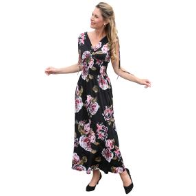 Damen-Kleid 'Ines' schwarz/multicolor