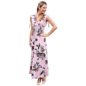 Damen-Kleid 'Ines' rosenholz/multicolor