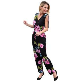 Damen-Jumpsuit 'Anabel' schwarz/pink