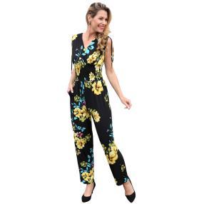 Damen-Jumpsuit 'Anabel' schwarz/gelb
