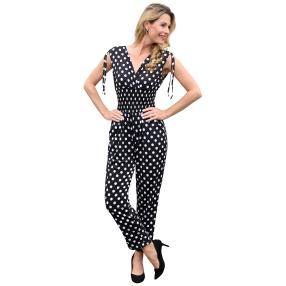 Damen-Jumpsuit 'Jenna' schwarz/weiß