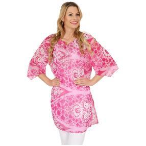 Leichte Damen-Tunika 'Nadia' bestickt, pink, rosa