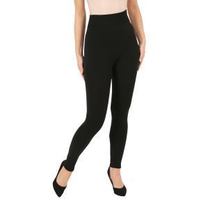 Damen-Leggings 'Bambus', normale Leibhöhe, schwarz