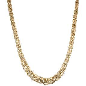 Königsketten-Verlaufscollier 585 Gold, halbmassiv