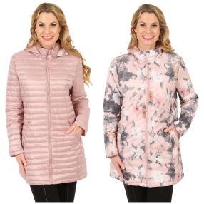 Damen-Wende-Stepp-Kurzmantel 'Vendôme' rosa
