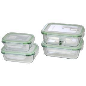 GOURMETmaxx Glas-Frischhaltedosen Klick-It