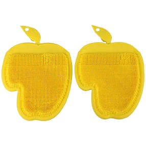 Silikon-Handschuh gelb, 2-teilig