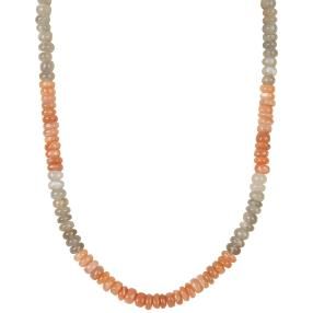 Collier Mondstein multicolor, ca. 46+4 cm