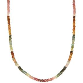 Collier Turmalin multicolor, ca. 45 + 5 cm