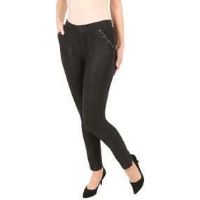 Damen-Hose 'Casual Chic' mit Bambusfaser schwarz