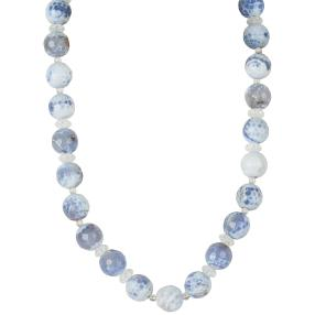 Collier Achat/Bergkristall
