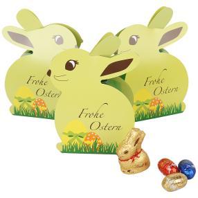 Osterhasen Standbeutel mit Lindt Schokolade 3tlg
