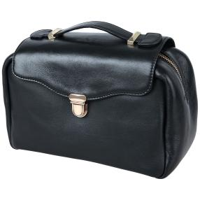FreiGut Leder Kulturtasche, schwarz