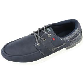 Marco Bocelli Herrenslipper navy