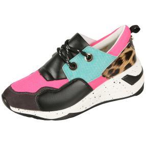 Monshoe Damen Keilsneaker pink