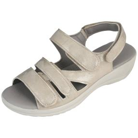 STEP&GO Damensandalen metallic