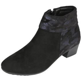 TOPWAY Damen-Stiefeletten schwarz