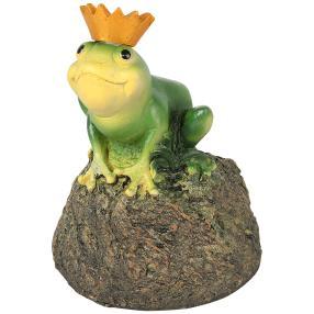 Solar-Leuchte Froschkönig auf Stein