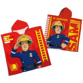 Badeponcho Feuerwehrmann Sam, rot