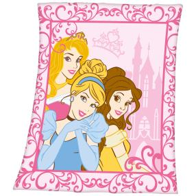 Fleece-Decke Disney Princessinen, pink, Ornament