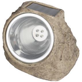 Solar-Stein mit 4 LED, beige