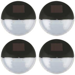 LED Solarlampe 4er Set schwarz