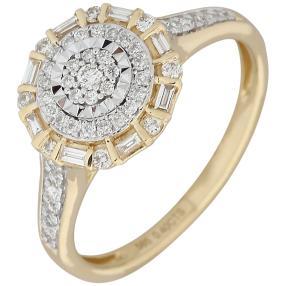 Ring 585 Gelbgold, Diamanten
