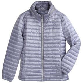 Damen-Stepp-Jacke 'Aspen', Strass-Zipper hellblau