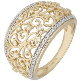 Ring 585 Gelbgold Diamanten gelb natur