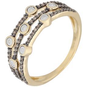 Ring 585 Gelbgold Chocolate Diamanten