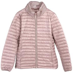 Damen-Stepp-Jacke 'Aspen', Strass-Zipper rosé