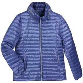 Damen-Stepp-Jacke 'Aspen', Strass-Zipper royalblau