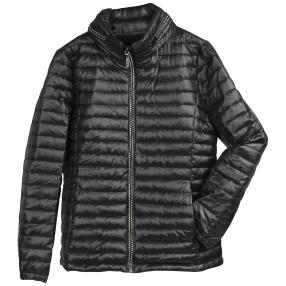 Damen-Stepp-Jacke 'Aspen', Strass-Zipper schwarz