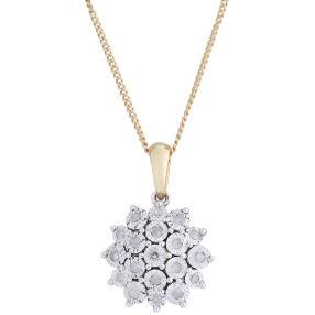 Anhänger Kette 585 Gelbgold Diamanten