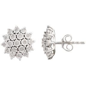 Ohrstecker 585 Weißgold, Diamanten