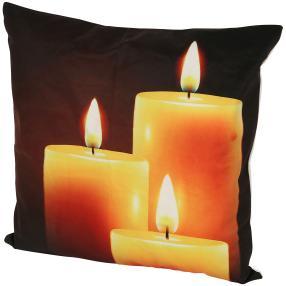 LED-Kissen Kerzenschein