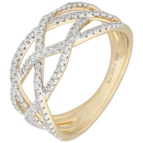 Ring 585 Gelbgold Diamanten, ca. 0,5 ct.