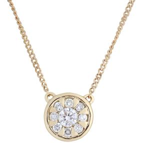 Collier 585 Gelbgold Diamanten
