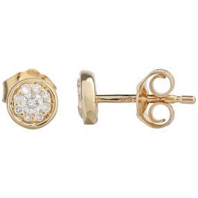Ohrstecker 585 Gelbgold, Diamanten