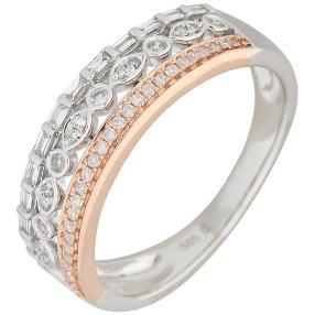 Ring 585 Roségold, Diamanten
