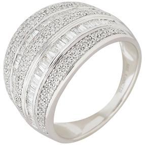 Ring 585 Weißgold Diamanten, weiß