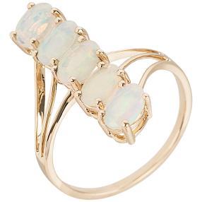 Ring 585 Gelbgold Äthiopischer Opal, poliert