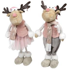 Weihnachtselche 2er Set rosa, 50 cm