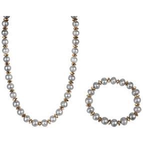 Set Kette+Armband Perle/Hämatit