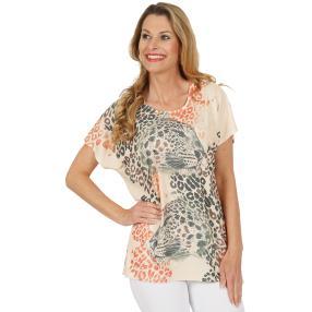 CANDY CURVES Shirt beige, khaki, koralle, schwarz